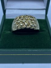 Gents Heavy Gauge Vintage 9ct Gold Keeper Ring Approx Size U