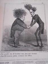 Caricature 1870 Permettez moi de vous offrir quelques cheuveux !!