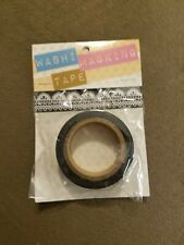 White w/black daily lace design Washi Tape .625 inches x 26.25 ft. by Darice