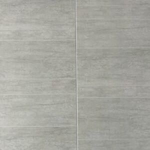 Multi Grey Large Tile Effect Wall Panels PVC Bathroom Cladding Shower Wall 8mm