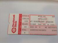 Cincinnati Reds vs Phillies TIcket Stub - July 18, 1985 Riverfront
