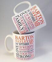 Personalised Mr and Mrs Mug Set Great Wedding, Anniversary, Christmas Gift