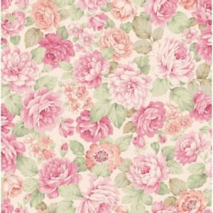 Cottage Shabby Chic Quilt Gate Classic Library Floral Fabric QUGRU2400-13D BTY