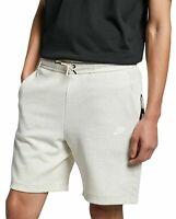 Men's Nike Sportswear Tech Fleece Shorts Oatmeal Cream 928513-141 Size XL