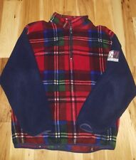 VTG 90's Nautica BLUE WATER Challenge Fleece 1/2 Zip Pullover Jacket Men's XL