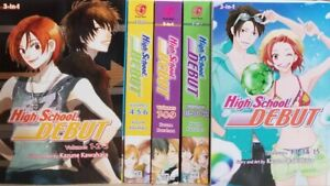 High School Debut 3 in 1 Edition Vol. 1-5 English Manga Graphic Novels Brand New