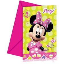 Inviti con busta Minnie 6 pz Walt Disney Biglietti Dinvito per Feste Procos NUOV