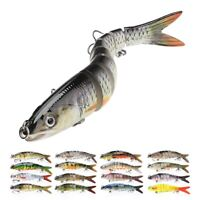 Sinking Wobbler Fishing Tackle Lure Hard Bait Real Fish Segment Jointed Pike