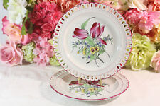 Luneville,Vintage French Provincial Hand Painted Dinner Plates (2)