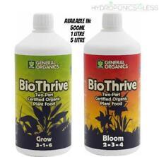 General Organics BioThrive Grow Bloom Plant Nutrient Hydroponics