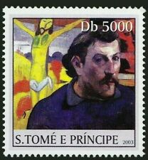 Painter Paul Gauguin and one of his paintings, Sao Tome E Principle 2003 MNH