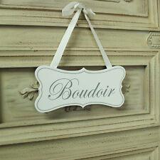 En bois blanc à suspendre Porte Plaque Signe Shabby Vintage Chic Boudoir message