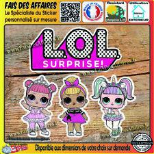 4 stickers autocollant lol surprise  licorne unicorn decal figurine poupée