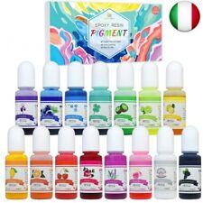 Coloranti per Resina Epossidica - 15 Colori Pigmento Resina Epossidica Liquido