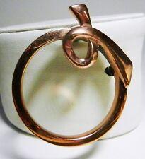 Vintage signed RENOIR Solid Copper DEVOTION Pin/ Brooch-Mid Century Modern