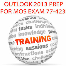 OUTLOOK 2013 for MOS Certification Exam 77-423 - Video Training Tutorial DVD