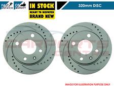 2 x Front Brake Discs Nissan Navara 2.5 D40 05-16 2.5 4.0 R51 05 on 296mm Dia
