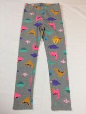 Nwt Cat & Jack 5 5T Gray with Colorful Dinosaurs Print Full Length Leggings