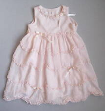 Biscotti Collezioni Girls 24 Mo Pink Ruffles & Ribbons Dress EUC Easter