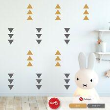 Triangle Wall Sticker Set Boys & Girls Nursery Bedroom Vinyl Decals