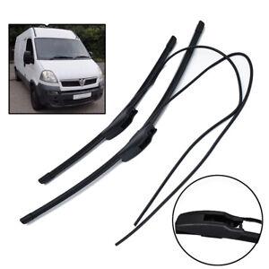 For Opel Movano A Dumptruck Aero VU Front Flat Windscreen Wiper Blades