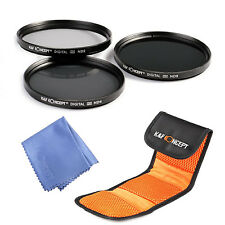 K&F Concept 72mm ND2 ND4 ND8 Filterset Neutral Density Graufilter mit Filtertasc