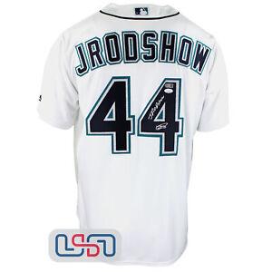 "Julio Rodriguez Signed Authentic ""Jrodshow"" White Mariners Jersey JSA Auth"