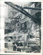 1945 WWII Era Britain Bomb Damaged House of Commons Demolition Press Photo
