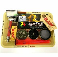Raw Rolling Tray Set Bob Marley Rolling Papers Snoop Dogg Raw Cone Grinder Pipe
