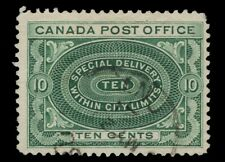 "CANADA used E1ii 10c     ""NO SHADING IN VALUE TABLET""   VARIETY  1898  FINE"
