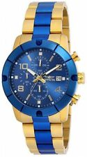 New Mens Invicta 18048 Specialty Two Tone Blue Dial Watch