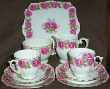 """Queen Ann China in the """"Lady Alexander Rose"""" pattern"""