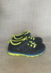 Stride Rite Tennis Shoes Rubber Water 10.5 Gray Yellow Made2Play