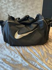 Nike Small Gym Bag Holdall Black And Silver
