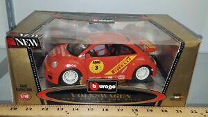 1:18 Bburago Volkswagen VW New Beetle Cup 2000 Pirelli Racing Edition