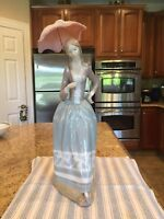 Lladro 4805 Woman With Umbrella - Mint Condition