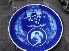 """Placa de visualización Vintage Royal Copenhagen Azul Profundo aniversario 1983 9.5"""""""