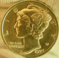 1923 P MERCURY DIME 90% Silver Uncirculated Full Split Bands fb MS BU UNC + FSB
