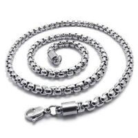 Jewelry Men necklace, Stainless steel necklace, silver, 5 mm wide, 55 cm lo O6X8