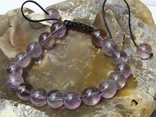 Natural Gemstone Women bracelet all 8mm Amethyst February Birthstone beads 7inch