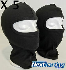 X5  GO KART BLACK BALACLAVA / BIKE MOTO RACE RALLY ROTAX TKM X30 CADET PRO KART