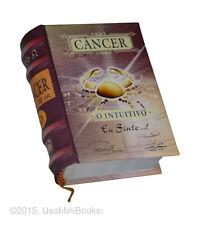 Cancer O intuitivo signo do zodíaco miniature book hardcover easy to read