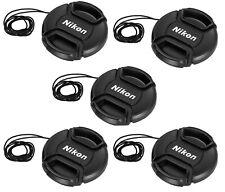 """(5 Packs) 52mm Snap-On Lens Caps for Nikon Nikkor Camera Lense """"US Seller"""""""