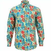 Mens Shirt Loud Originals REGULAR FIT Geometric Red Retro Psychedelic Fancy