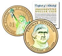 HOLOGRAM 2-SIDED 2007 THOMAS JEFFERSON PRESIDENTIAL $1 COIN