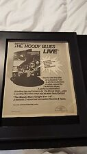 The Moody Blues Live Rare Original Promo Poster Ad Framed!