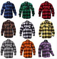 Flannel Shirt Extra Heavyweight Brawny Buffalo Plaid Long Sleeve  Rothco 4739