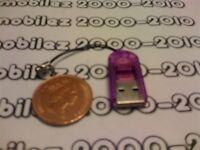 PURPLE Micro SD/SDHC Memory Card Reader/Writer TF/Transflash USB Adapter NEW UK