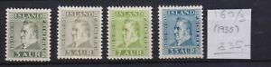 ! Iceland  1935.  Stamp. YT#160/163. €35.00!