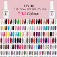 ROSALIND 15ml Gel Polish Nail Art Soak Off Manicure UV&LED Lamp Hot 142 Colours